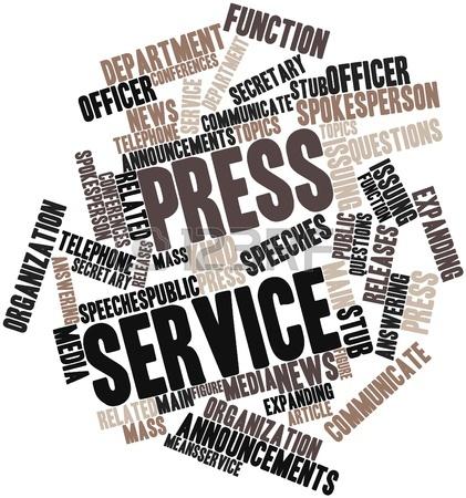 16631676 nuage de mot abstrait pour le service de presse avec des tags et des termes connexes